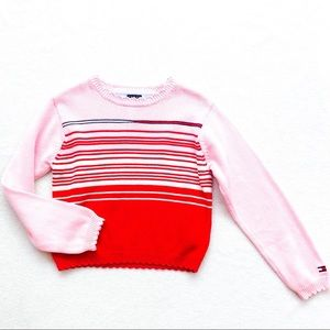 NWOT Tommy Hilfiger Valentine Striped Sweater